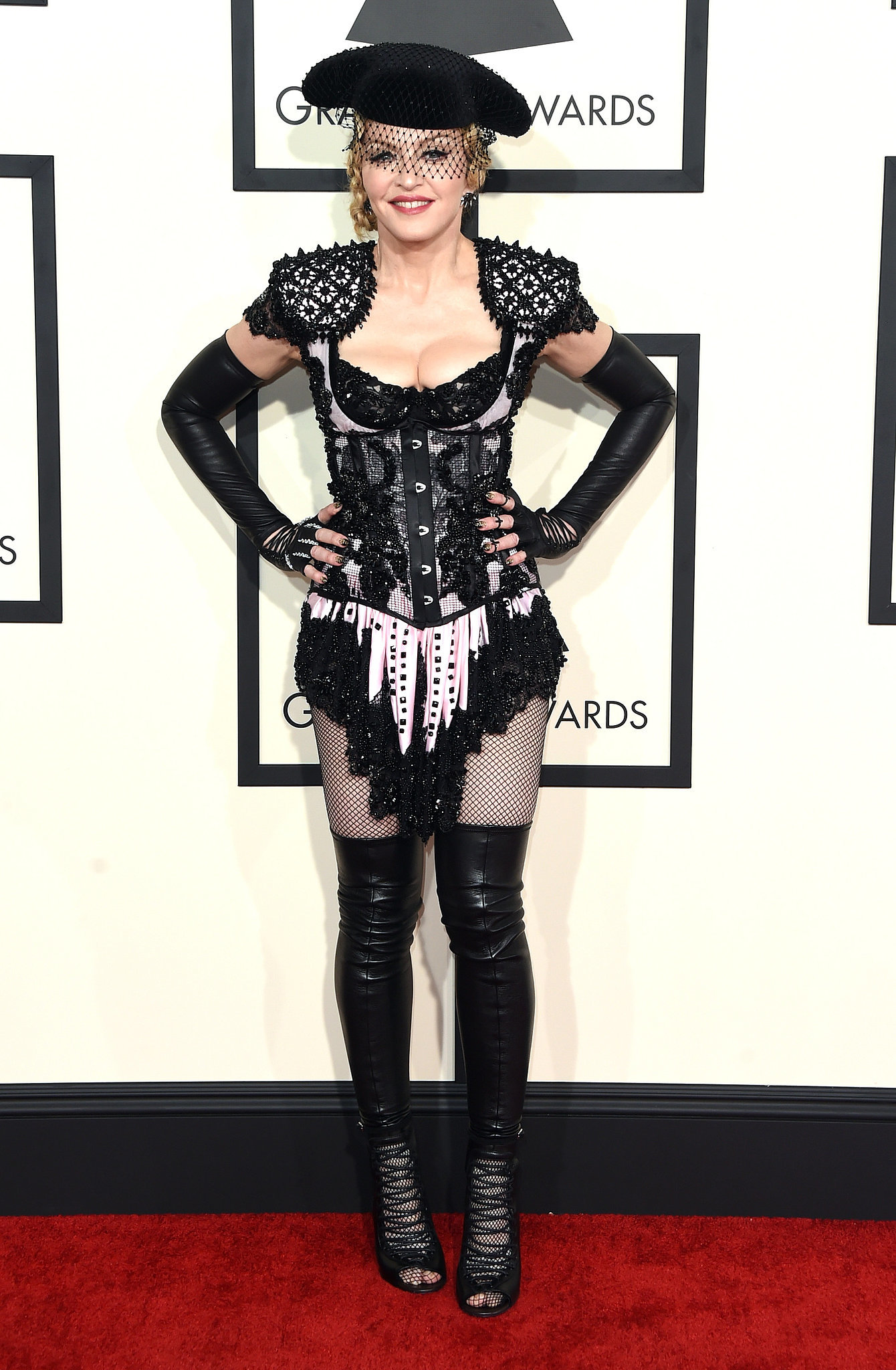 madonna s outfit at the grammy awards 2015 popsugar fashion