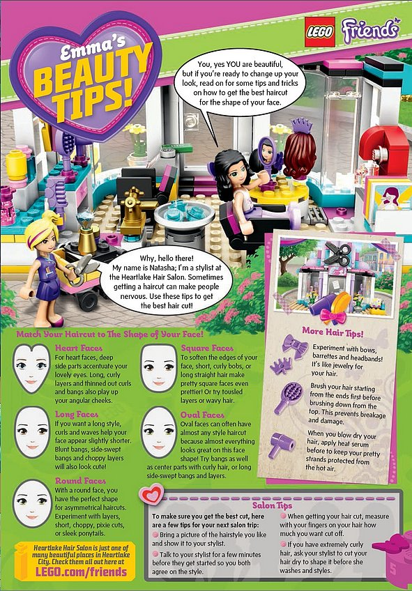 Lego Magazine Gives Little Girls Beauty Tips POPSUGAR Moms - Hairstyles For 6 Year Olds