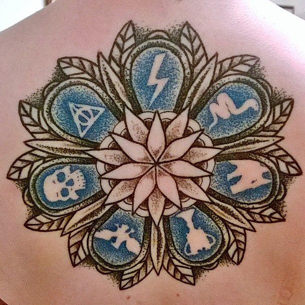 Dotwork Harry Potter Mandala   Harry Potter Tattoos That ...