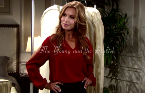 lauren red top the young and the restless
