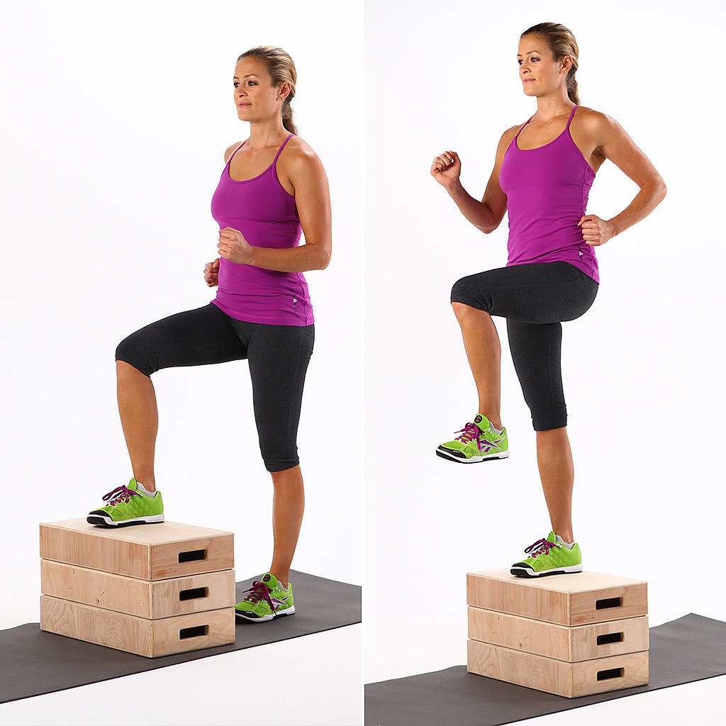 step ups outdoor exercise