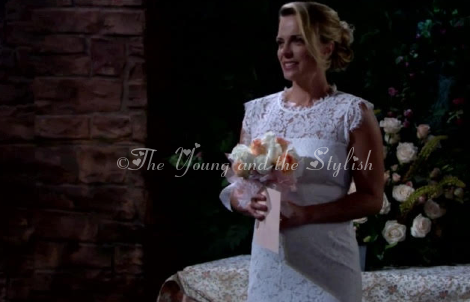 Sage warner weddng dress the young and the restless
