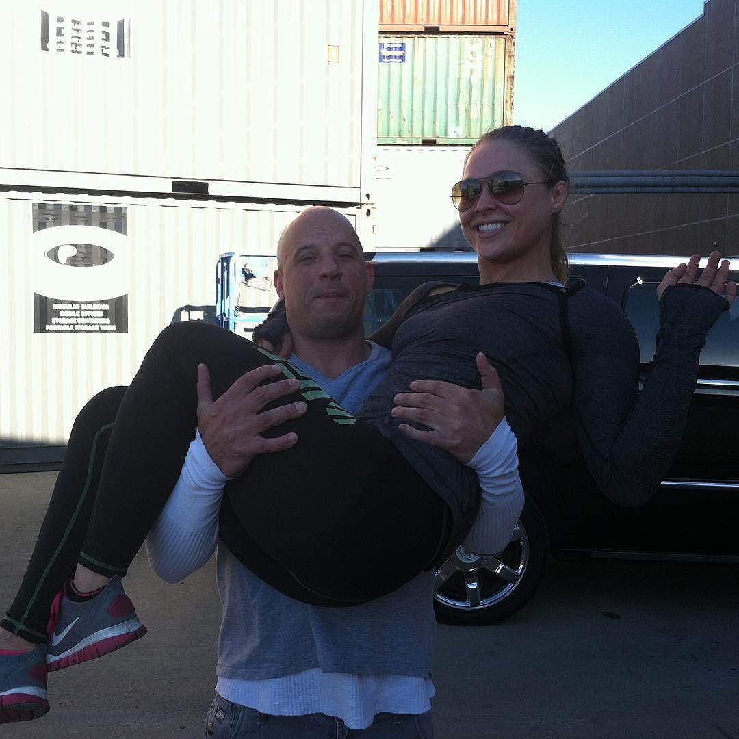 Vin Diesel Carrying Ronda Rousey Instagram Picture ...