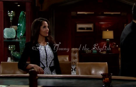 lily winters ashby black and white dress the young and the restless