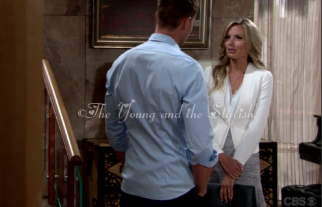 abby newman tweed outfit the young and the restless