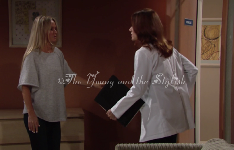 sharon newman grey sweater the young and the restless