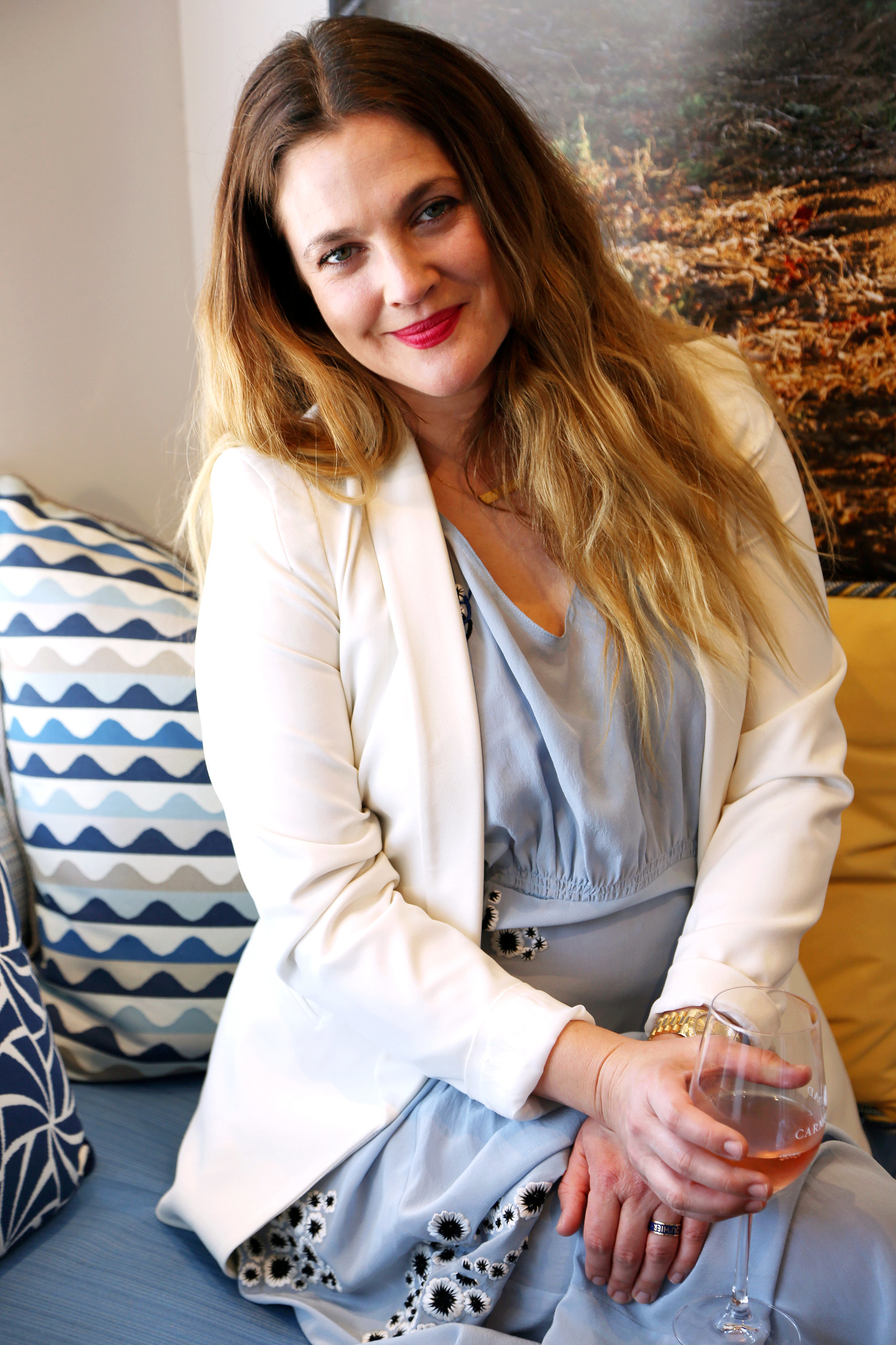 Drew Barrymore Talks About the Barrymore Rose Wine Release ... Drew Barrymore