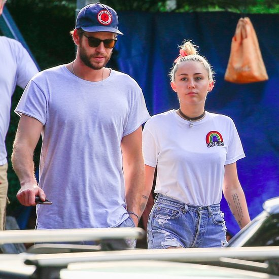 Miley Cyrus and Liam Hemsworth Having Lunch in Australia
