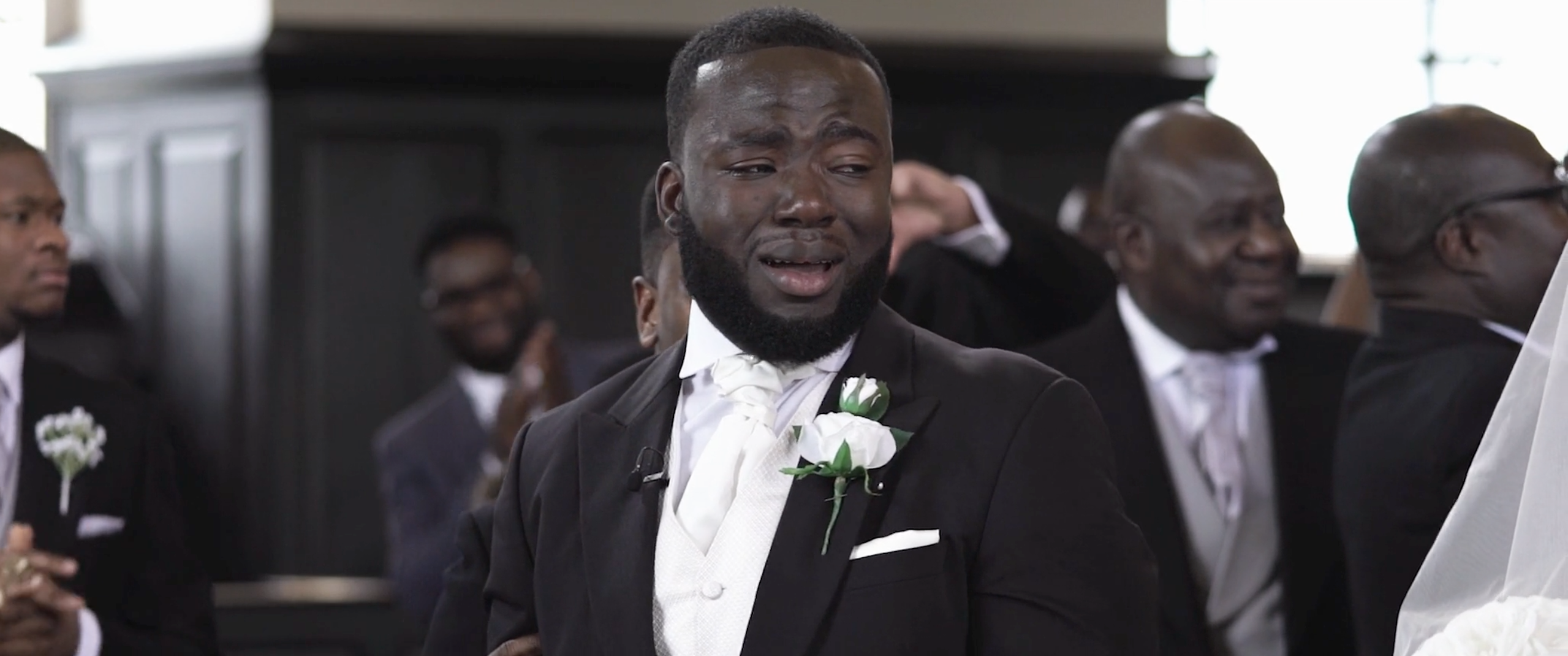 PopsugarLoveViral VideosGroom Cries as Bride Walks Down the AisleGrooms Take Note: This Video of a Man Crying as His Bride Walks Down the Aisle Is PerfectJune 12, 2016 by Eleanor SheehanFirst Published: June 9, 2016155 SharesChat with us on Facebook Messenger. Learn what's trending across POPSUGAR.Walking down the aisle is emotional, maybe even the most emotional event of a wedding. A viral video of a groom in tears as his wife-to-be walks down the aisle is a testament to just how emotional that short journey is. Gabriel and Annabelle Deko got married in May, but a video of Annabelle's walk down the aisle was posted to Vimeo this week and people are understandably moved. Gabriel, smiling, is totally staggered by his wife's beauty and they both can't hold back tears. Eventually, the bridesmaids are crying as well . . . and we can barely hold back our own tears. We're sure this couple will cherish this beautifully captured moment forever. Grooms, take note. Below are some of our favorite moments from the video. - 웹