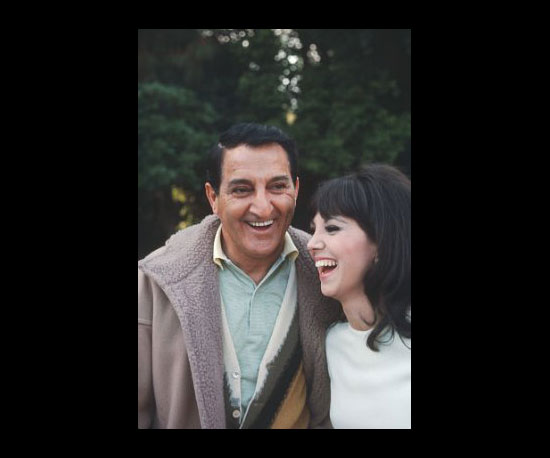 With her Father in 1971