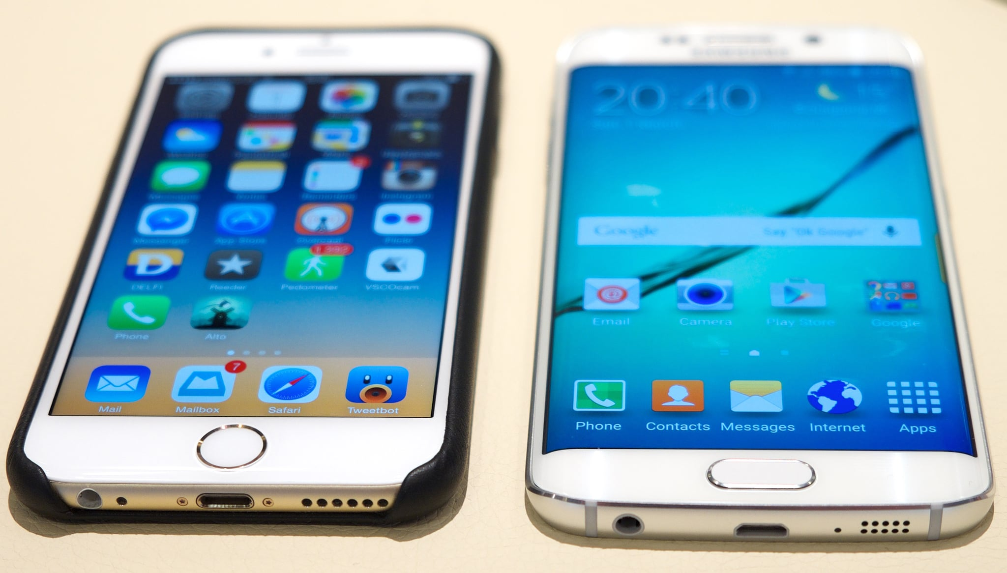 iphone 6 vs samsung galaxy s6 galaxy s6 vs iphone 6 popsugar tech 1468