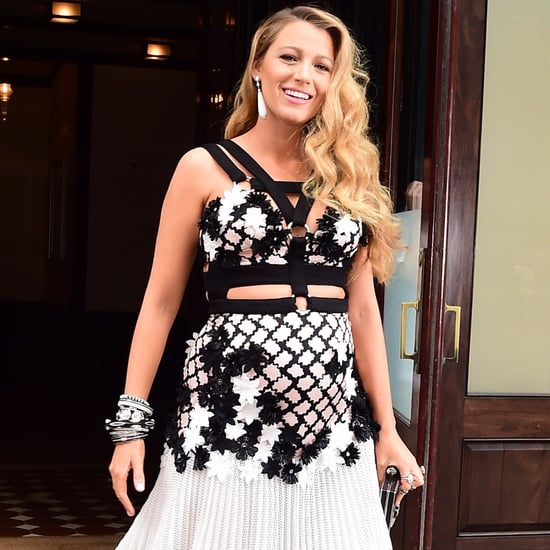 Blake Lively Wearing Black and White Dress in NYC July 2016