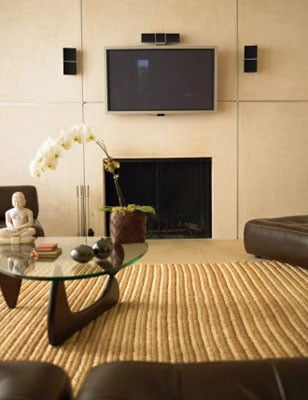 dangers of mounting a flat panel above your fireplace popsugar tech. Black Bedroom Furniture Sets. Home Design Ideas