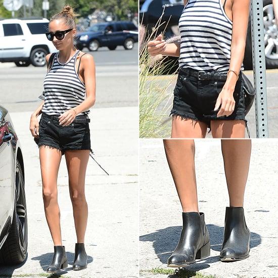 Nicole Richie 39 S Striped Top Popsugar Fashion