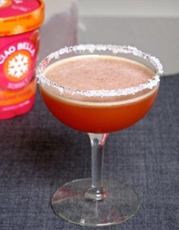 how to make blood orange sorbet