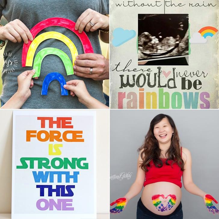 rainbow baby photo ideas - Rainbow Baby Pregnancy Announcement Ideas