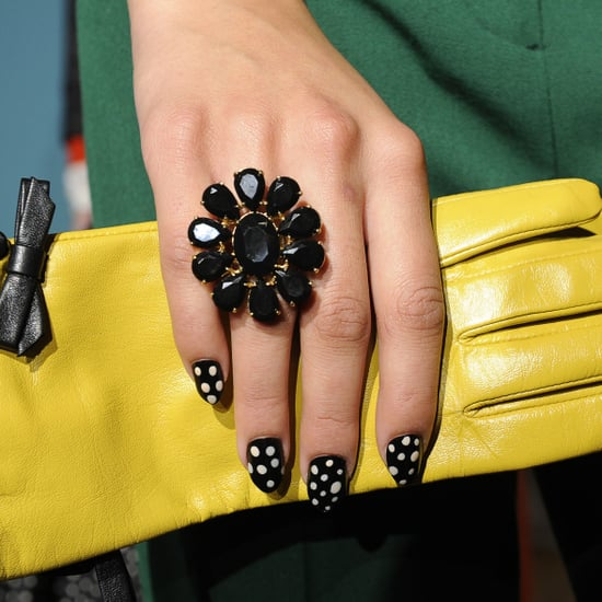 Prettyfulz Fall Nail Art Design 2011: The Polka-Dot Nails At Kate Spade Fall 2011