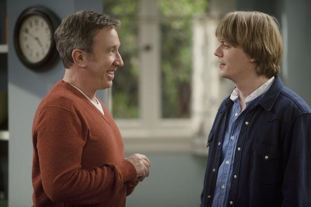 Christoph Sanders and Tim Allen in ABC&#039;s Last Man Standing.</p> <p>Photo copyright 2011 ABC, Inc.