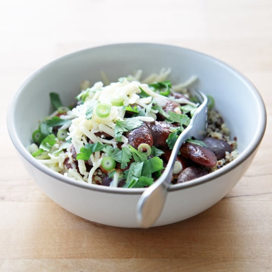 Slow-Cooker Beans With Quinoa, Scallions, and Cheddar