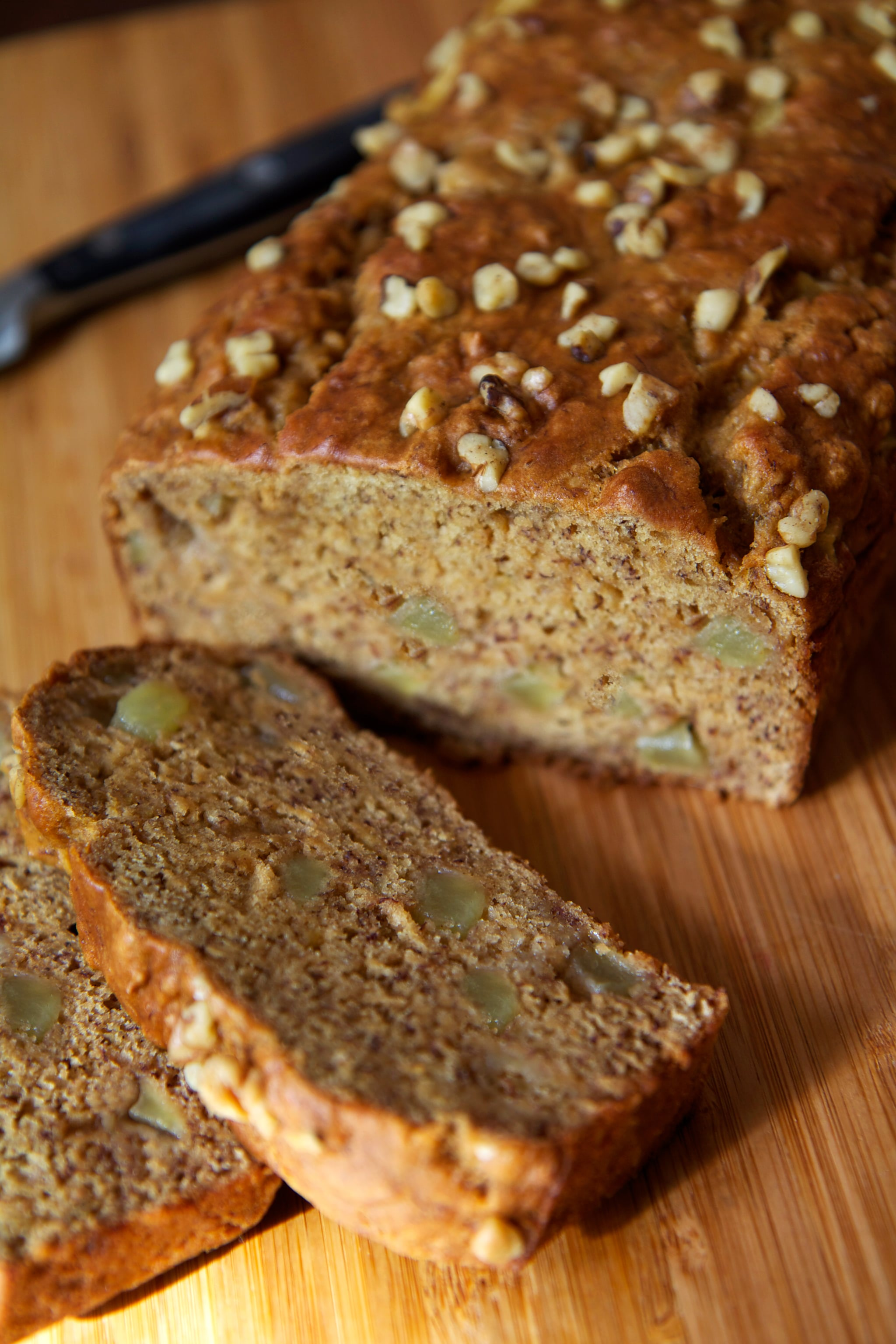 Vegan banana and apple chunk bread