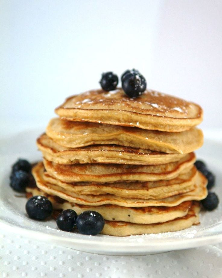 Recipe For Whole Wheat Mixed Berry Pancakes | POPSUGAR Fitness