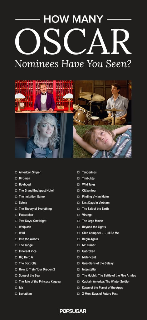 Oscar Movie Checklist 2015 36625459 together with Academy Awards Ballot 2015 Printable together with 2017 Oscar Nominated Movies List besides Oscars 2015 Download Our Printable Movie Checklist PDF further Oscar Movie Checklist 2015 36625459. on oscar nominations checklist