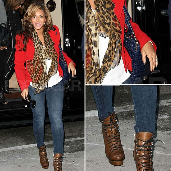 Pregnant Beyoncé Wearing Leopard Print and Red November ...
