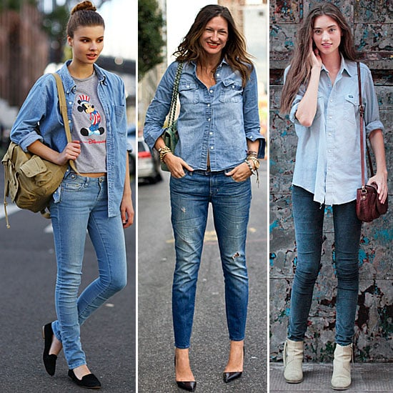 Denim-on-Denim Street Style Fall 2012