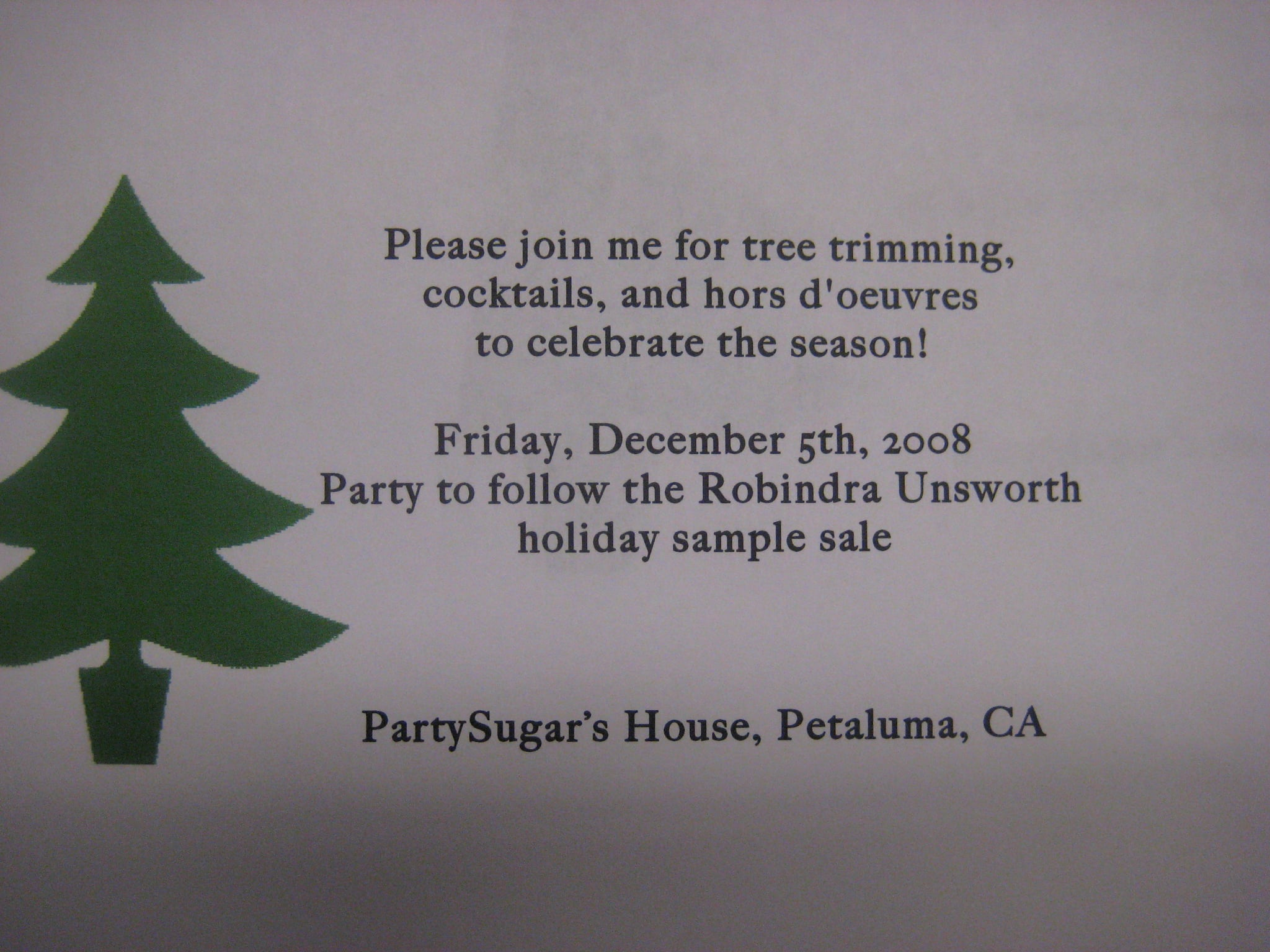 Come Party With Me: Tree Trimming — Invite | POPSUGAR Food