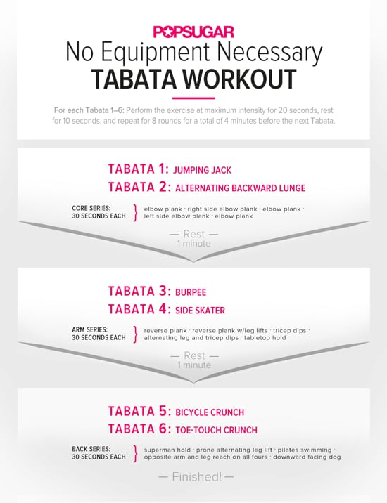 Printable Tabata Workout POPSUGAR Fitness