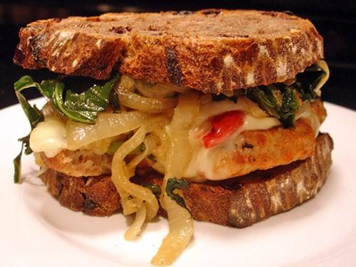 Reds and Greens Chicken Sandwich