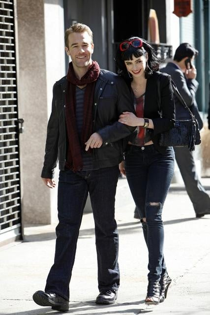 James Van Der Beek and Krysten Ritter in Don&#039;t Trust the B---- In Apartment 23.</p> <p>Photos copyright 2012 ABC, Inc.