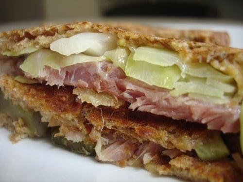 Honey Baked Ham and Cabbage Reuben