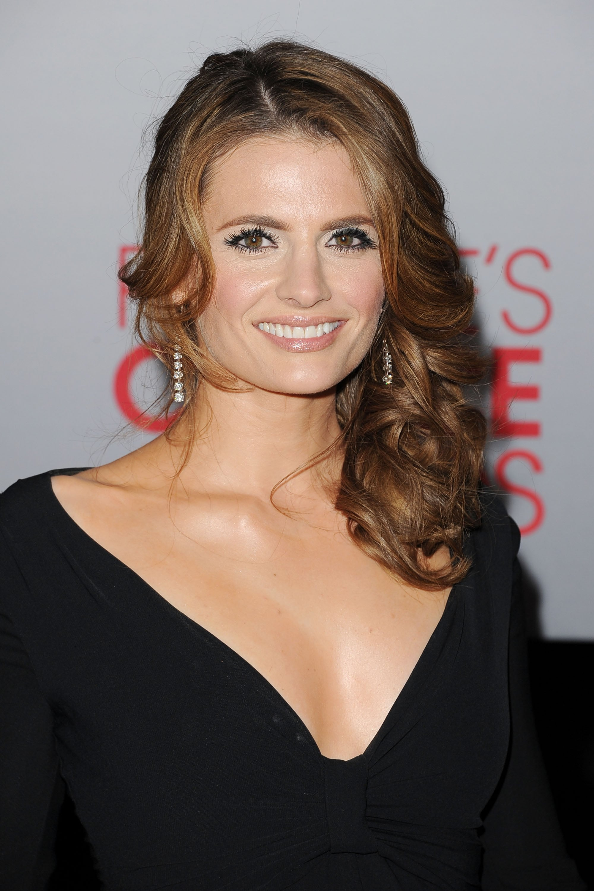 Stana Katic smiled on the red carpet.