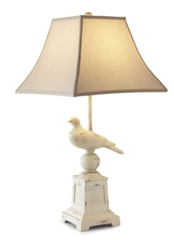 steal of the day linden street rustic bird table lamp popsugar home. Black Bedroom Furniture Sets. Home Design Ideas