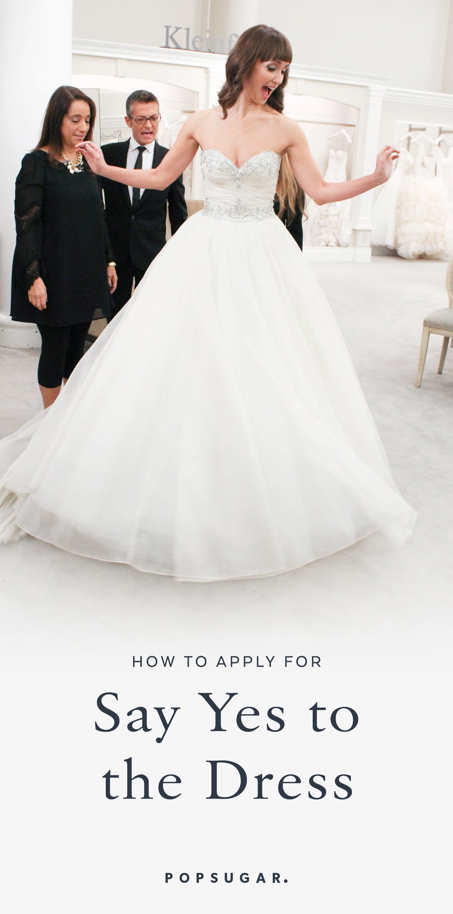 How to get cast on say yes to the dress popsugar fashion share this link ombrellifo Choice Image