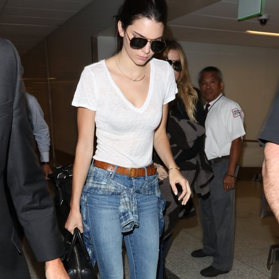 Celebrities Wearing Jeans and a White T-Shirt