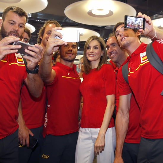 Queen Letizia and King Felipe With Spanish Olympic Team 2016