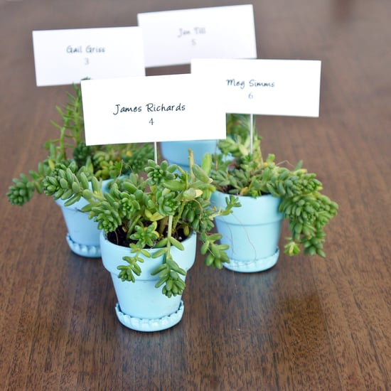 Wedding DIY: Bottle Cap Planter Favors