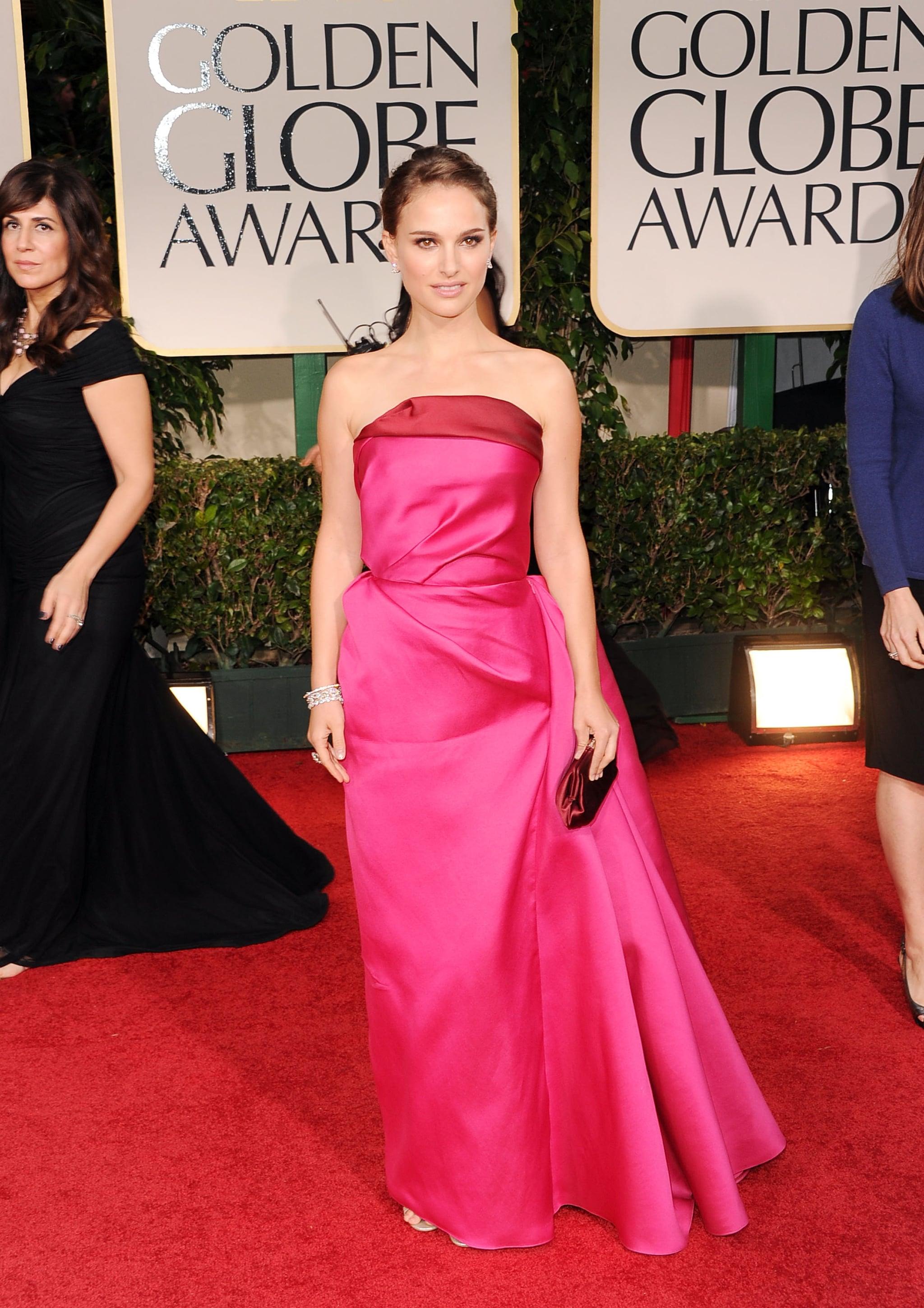 Natalie Portman wearing pink.