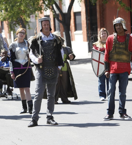 Matthew Perry and Tyler James Williams in Go On.</p> <p>Photo courtesy of NBC