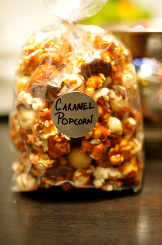 Chocolate Caramel Popcorn With Macadamia Nuts