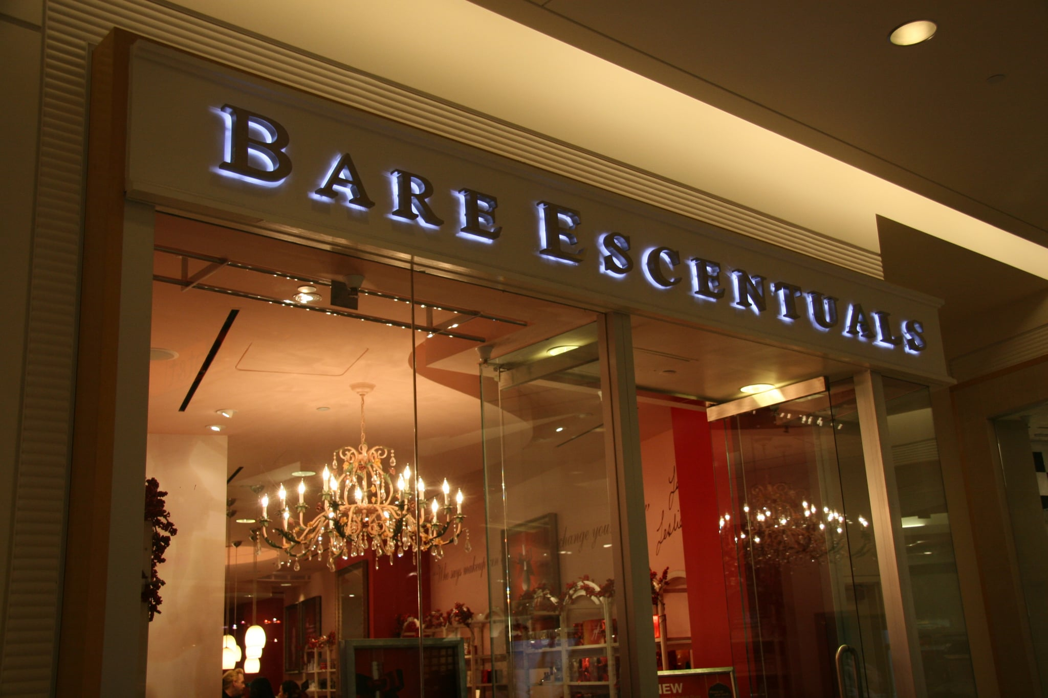 Makeup consultation at Bare Escentuals' flagship store.