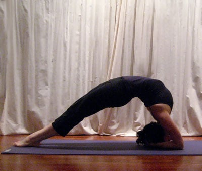 twolegged inverted staff pose  popsugar fitness
