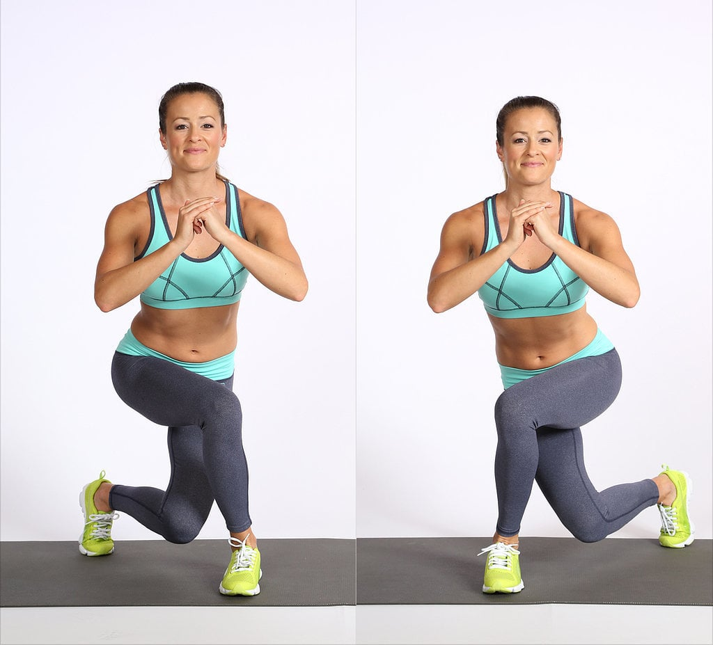 How to Do a Curtsy Lunge   POPSUGAR Fitness