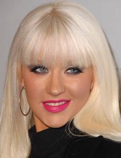 photo of christina aguilera bleach blonde hair and barbie