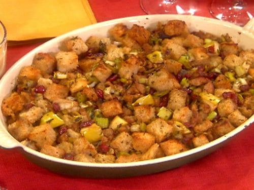 Sausage, Dried Cranberry, and Apple Stuffing