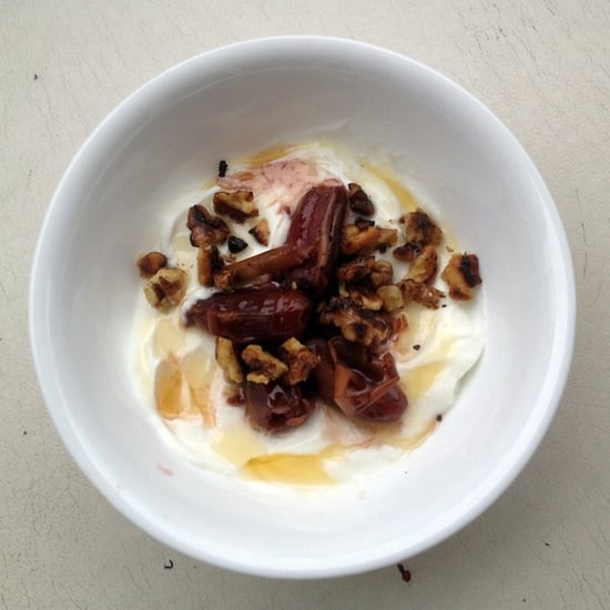 Greek Yogurt with Red Wine-Infused Dates, Toasted Walnuts & Honey ...