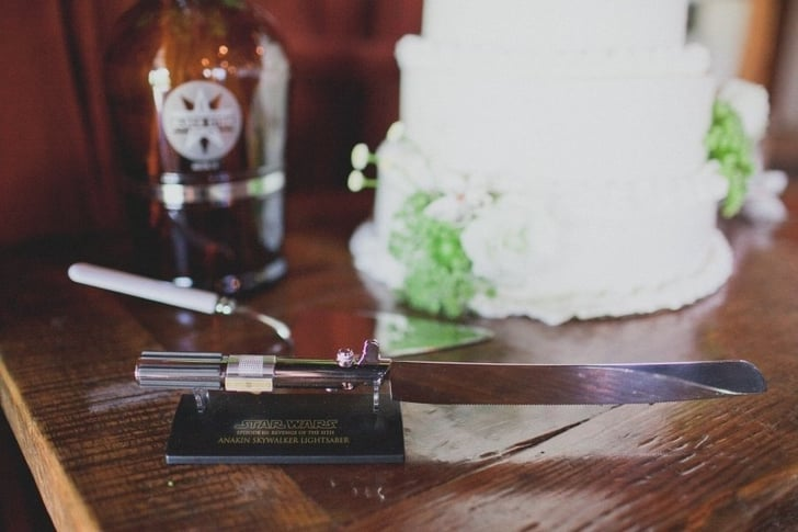 star wars wedding cake knife lightsaber cake knife what an epic wars wedding 20507