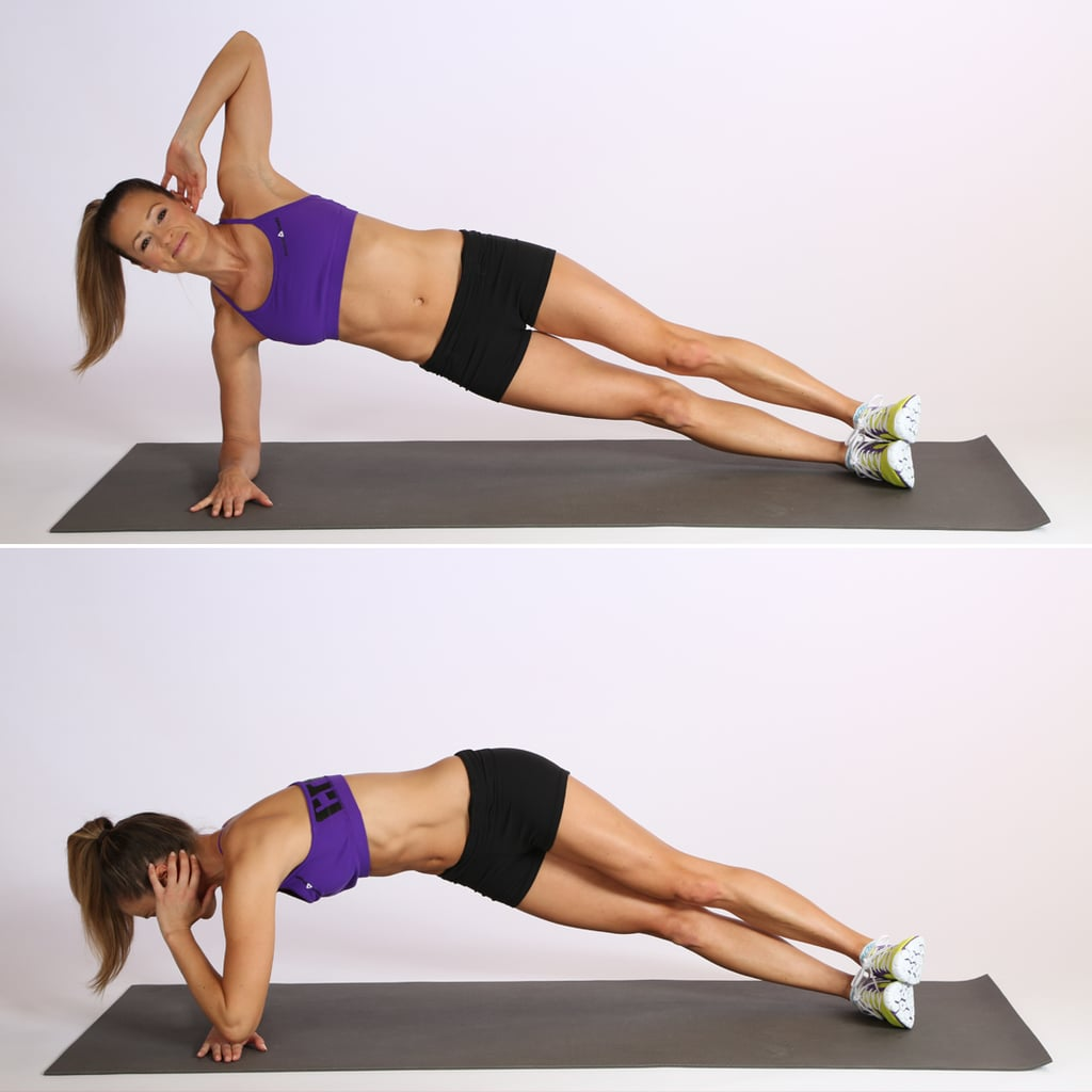 side elbow plank with twist popsugar fitness